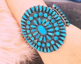 Handmade Native American turquoise cuff