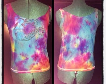 Hand Dyed Mermaid Goddess Tank