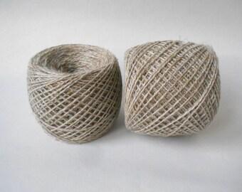 Linen Yarn 2-ply 100 % Linen Melange 50 g Ball - 275 meters/ 299 yards.