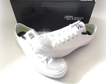 59778353b50218 bling white converse sneakers crystal converse shoes wedding converse shoes  rhinestone converse bling converse