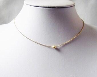 circle choker necklace, gold choker necklace, dainty silver choker necklace, dot necklace, circle necklace, minimal jewelry, minimalist