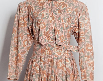 Vintage dress | Floral dress | 60s 70s 80s dresses | Japanese dress | Beautiful dress | Retro dress | Party dress | Flower dress | Dress