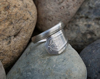 Silver Plated Silverware Handle Ring - Spoon Ring SR083