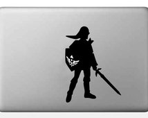 Macbook Decal sticker, Laptop Decal sticker - Link - Zelda - Phone Sticker - Ipad decal - Gaming - 3ds - Geek decal    DCL155
