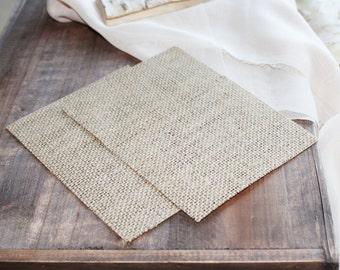 25 5.5x4 or 6x4 inch DIY Burlap Cardstock | Paper