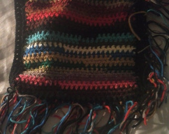 my favorite cross body bag multi color and fringes