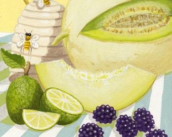 Melon Salad Print