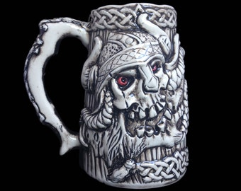 Handmade Viking Beer Stein, Fathers day gift, Anniversary Gifts for Men, Beer Mug