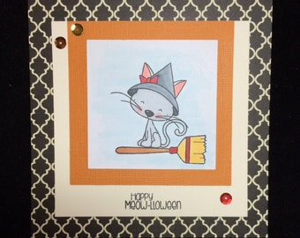 Happy Meow-lloween Greeting Card