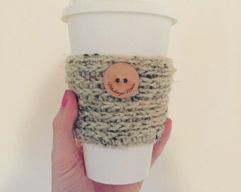 button coffee cozy