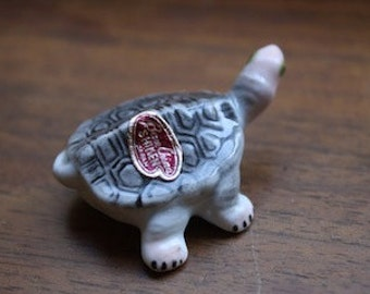 Small Vintage Pair of Turtles, Momma and Baby