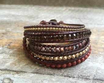 Sierra Beaded Wrap Bracelet