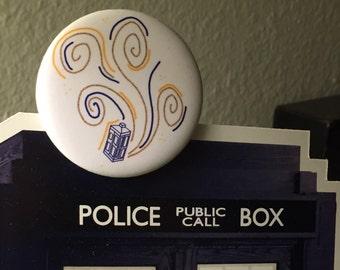 """TARDIS 2.25"""" Whoodle Pin"""