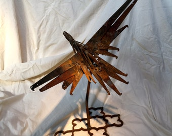 "Up-cycled Art Object Sculpture - ""Phoenix"""