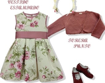 Wedding Outfit for girls. Flowergirl dress+cardigan+headband+shoes