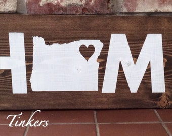 Home state sign. State sign. Home sign. Personalize with your state and heart location