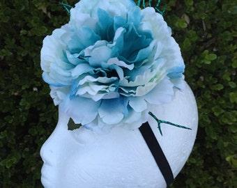 Effie Trinket Hunger Games inspired Flower Fascinator Headpiece in many colors