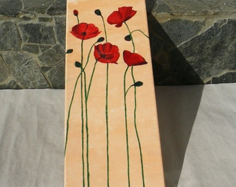 Poppies - a picture painted with oils