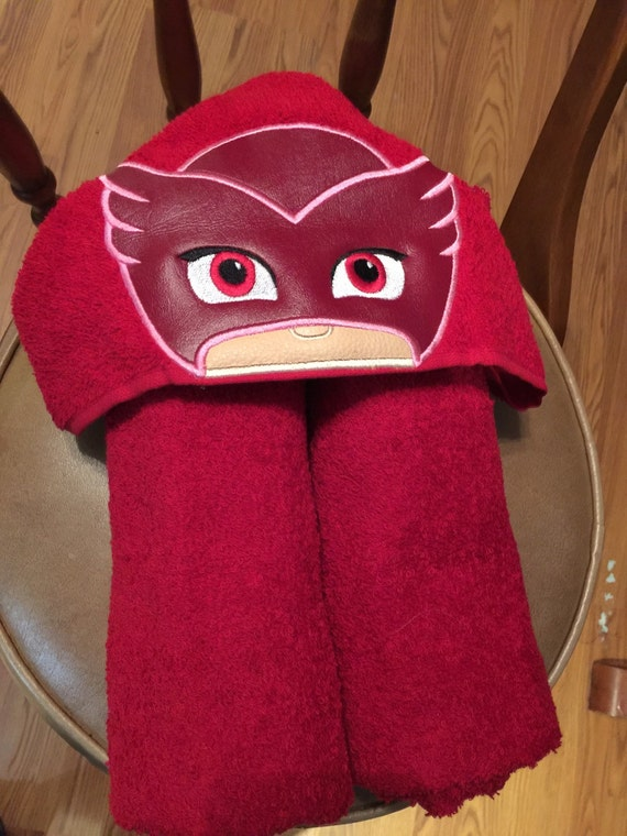 Owlet/Owlette PJ Masks Inspired Embroidered Hooded By