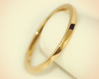 14K Yellow Gold Plain Flat Top Midi Fashion Ring/ Midi Ring/ Knuckle Ring/ Stacking Ring/ Upper Finger Ring/ Gift for her