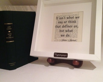 Jane Austen - sense and sensibility quote - wall art