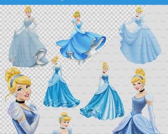 Cinderella 28 PNG images - 28 Cenicienta PNG - Instant Download