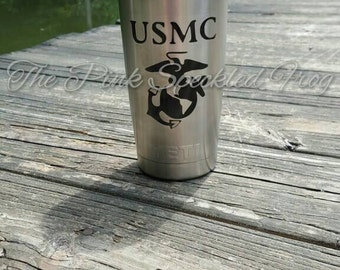 Marine Decal yeti cup decal car decal phone decals military decals