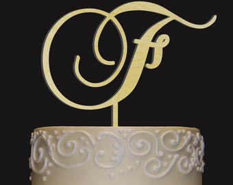 Rustic Wedding Cake Topper - Personalized Monogram Cake Topper - Keepsake Wedding Cake Topper