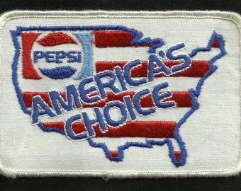 Vintage PEPSI AMERICA'S CHOICE Soda Cola Pop Beverage Nostalgia Collectors Patch