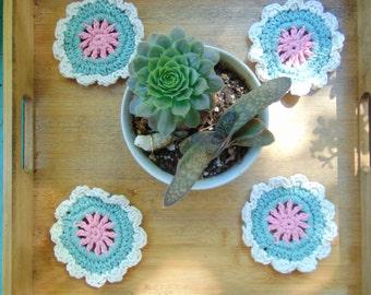 Mandala Coasters, Mandala Decor, Crochet Mandala, Crochet Decor