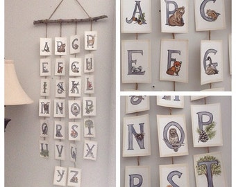 Customized Themed Alphabet Wall Hanging.