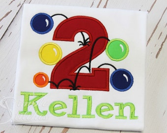 Bouncy Ball Birthday Shirt with Name