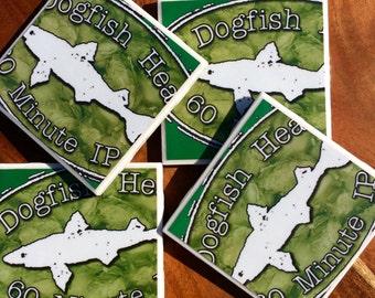 Dogfish Head 60 Minute IPA Beer Coasters