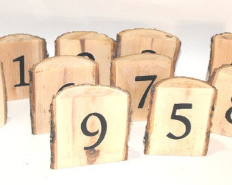 Wooden Table Numbers Woodland Wedding ~ 1-10 Rustic Table Numbers ~ Wood  log Table Numbers ~ Rustic Wedding ~ Log Table numbers