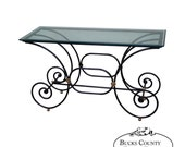 Quality Iron Glass Top Pastry Table Console