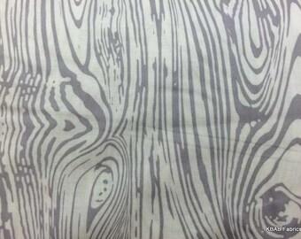 WOOD GRAIN GRAY Fabric Trees Woods Tree Fabric Grey Woodgrain Wood Sawmill Lumber Landscape Cotton Quilting Fabric 5/28