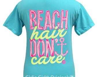 Girlie Girl Originals Beach Hair Comfort Color Short Sleeve T-Shirt