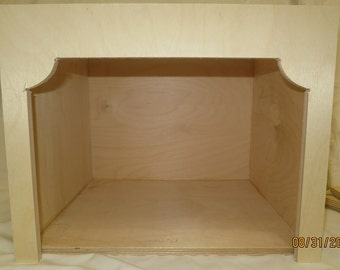 FREE SHIPPING Display Miniature Dollhouse roombox unfinised wood doll empty diorama box assambled New
