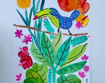Exotic bird - original