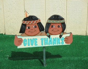 Thanksgiving Yard Sign Give Thanks