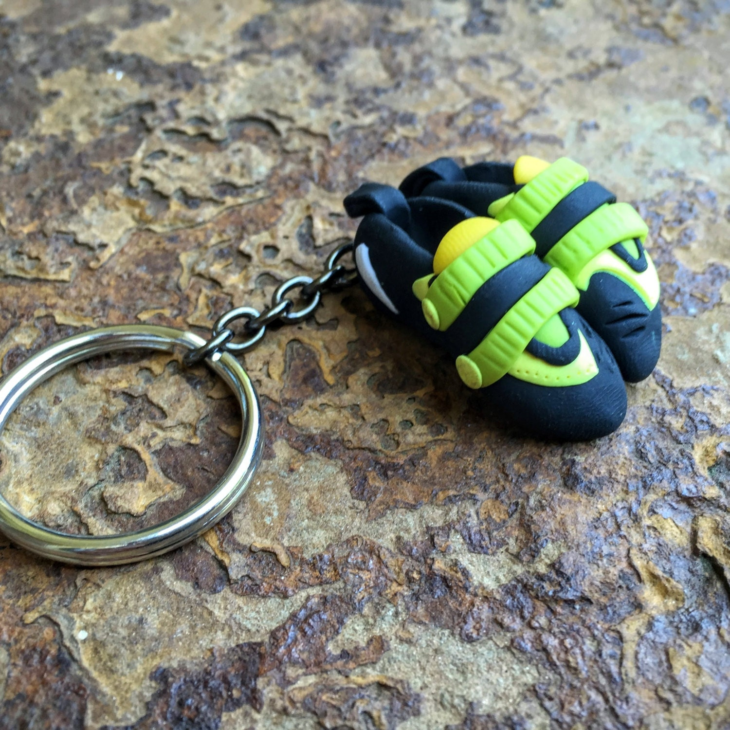 Rock climbing christmas ornaments - Rock Climbing Keychain