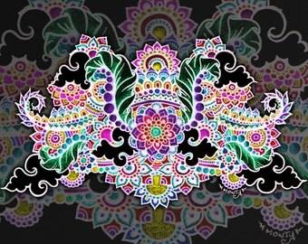 Extreme Symmetry Art Print