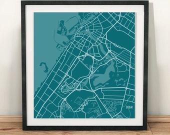 """10.5""""x10.5"""" Digital Map Print"""