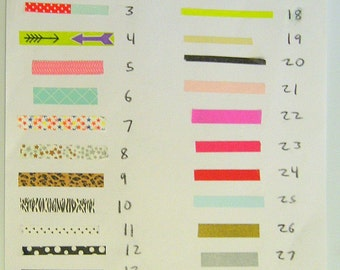Samples Washi Thin Tape Samples 24 Inches Huge Selection,Buy Two Or More And Get A Free Tape Sample,