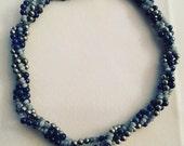 Multistrand gemstone necklace