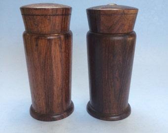 Vintage Danish Teak Wood Denmark Salt and Pepper Shakers
