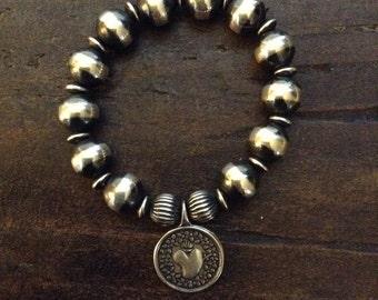 Sterling Silver Navajo Pearl Bracelet