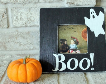 Halloween Decor Halloween Decorations Halloween Decor Ghost Halloween Picture Frame Boo Picture Frame Halloween Frame Black and White Frame