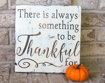 Wood Sign Thanksgiving Decor Thanksgiving Sign Rustic Home Decor Gratitude Sign Thankful Grateful Blessed Handmade Sign Painted Sign 12x12
