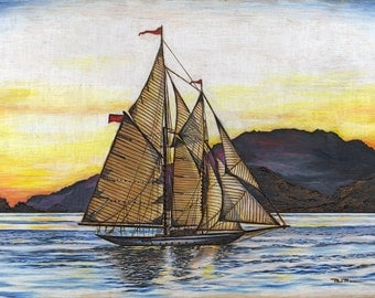 Peaceful Sail (Print)